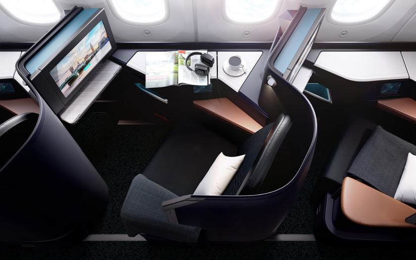 Business Class, WestJet Boeing 787-9 Dreamliner