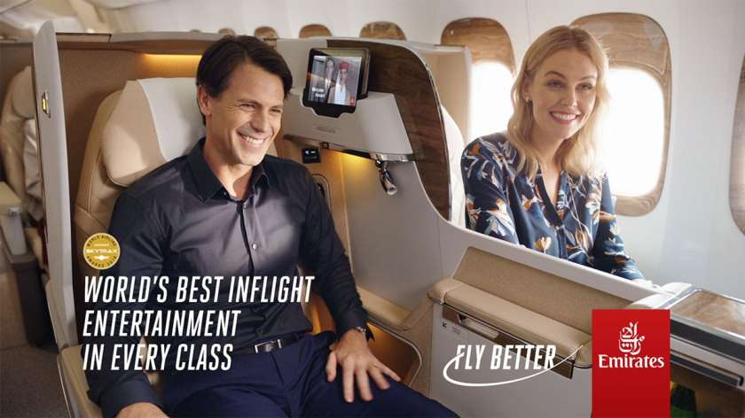 "Emirates ""Fly Better"" Advertisement"