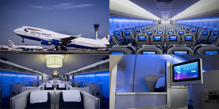 British Airways Boeing 747 Collage