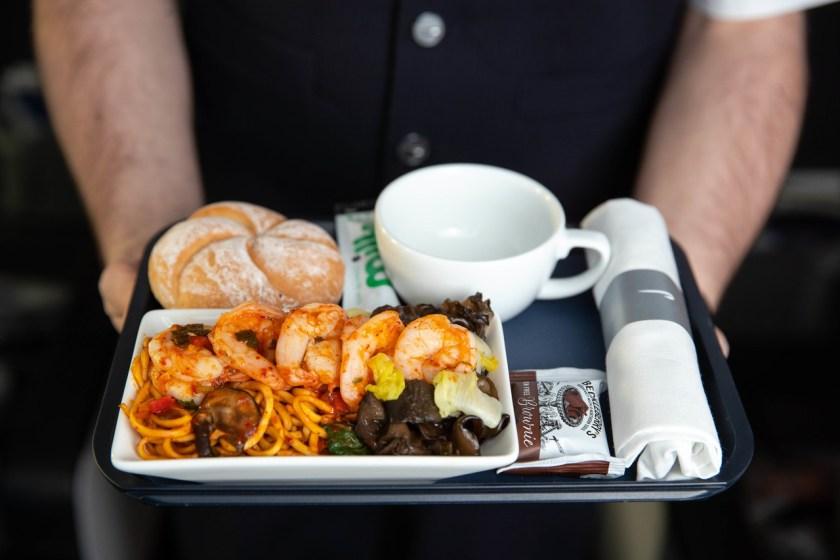 British Airways World Traveller Plus 2nd Meal Service