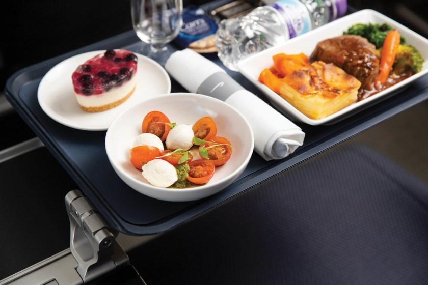 British Airways World Traveller Plus Meal
