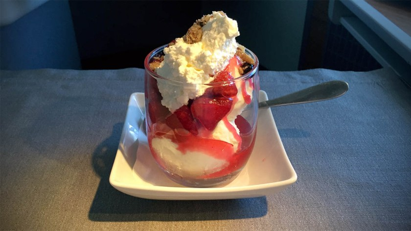 Ice Cream Sundae, American Airlines London Heathrow - Dallas Fort Worth