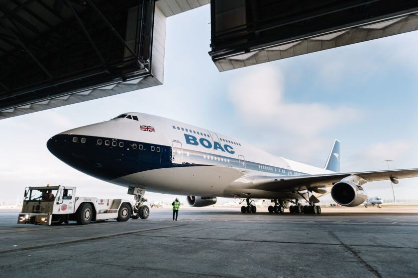 British Airways Boeing 747 in BOAC Livery, Dublin Airport