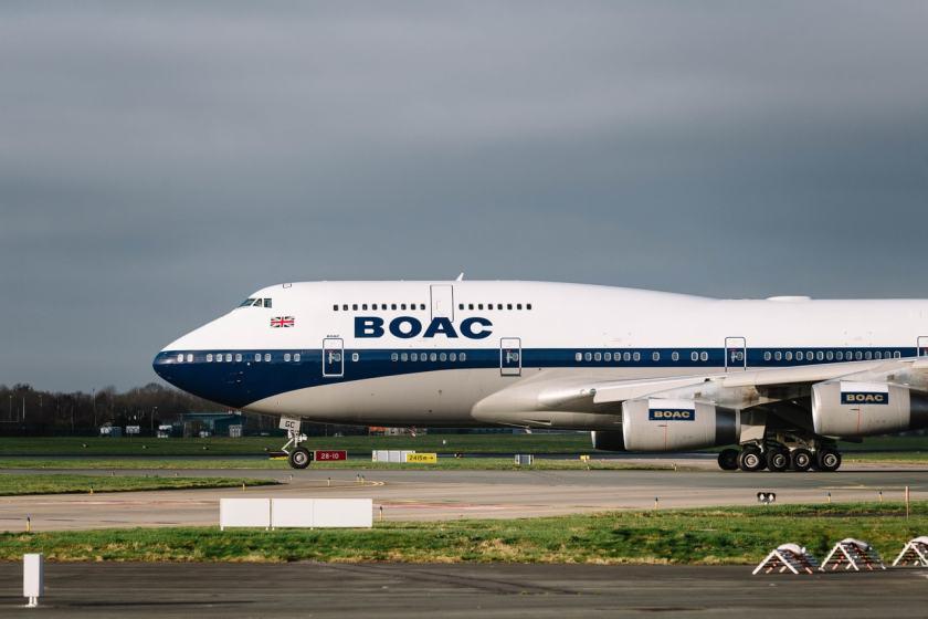 British Airways Boeing 747 in BOAC Livery, Dublin Airport