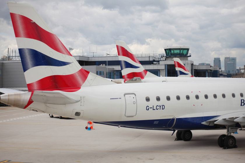 BA CityFlyer Embraer Aircraft at London City airport