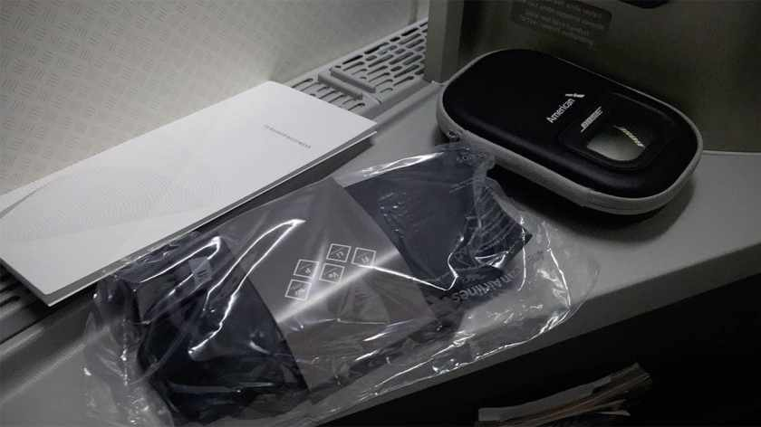 American Airlines Boeing 777-200 Business Class Amenities