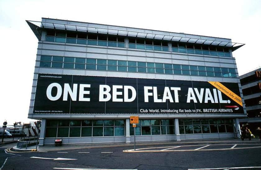 British Airways Club World Outdoor Advertisement 2000