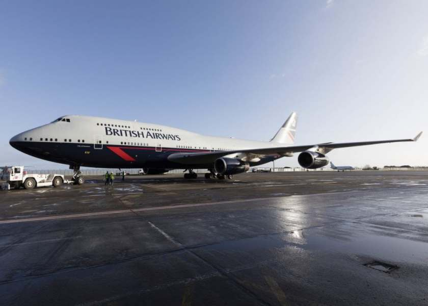 "British Airways Boeing 747 G-BNLY ""City Of Swansea"", Dublin (Image Credit: British Airways)"