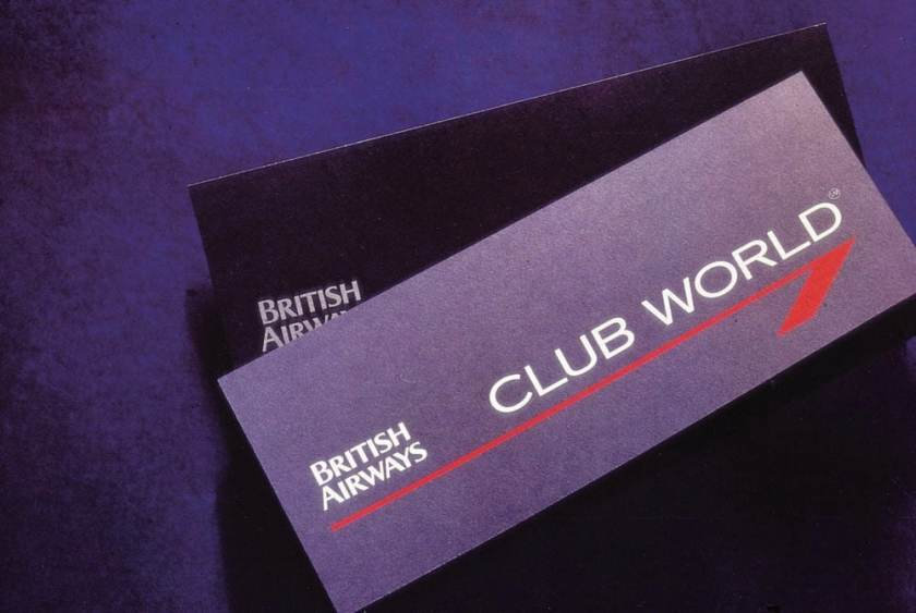 British Airways Club World Ticket Wallet