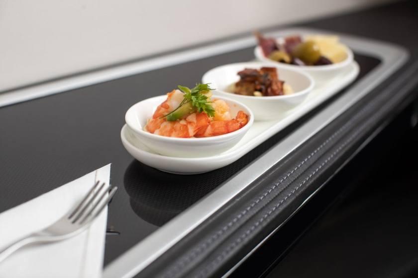 British Airways First Class Dining
