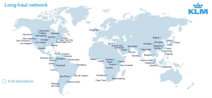 KLM Long-Haul Network