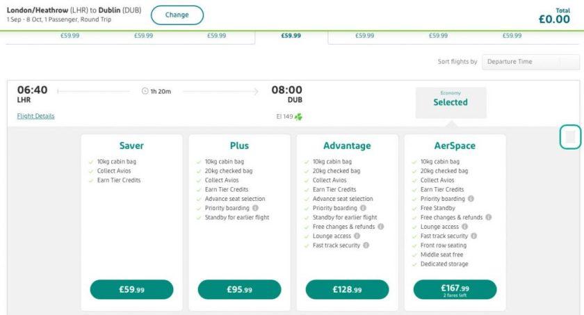 Aer Lingus Short-Haul Economy Fares