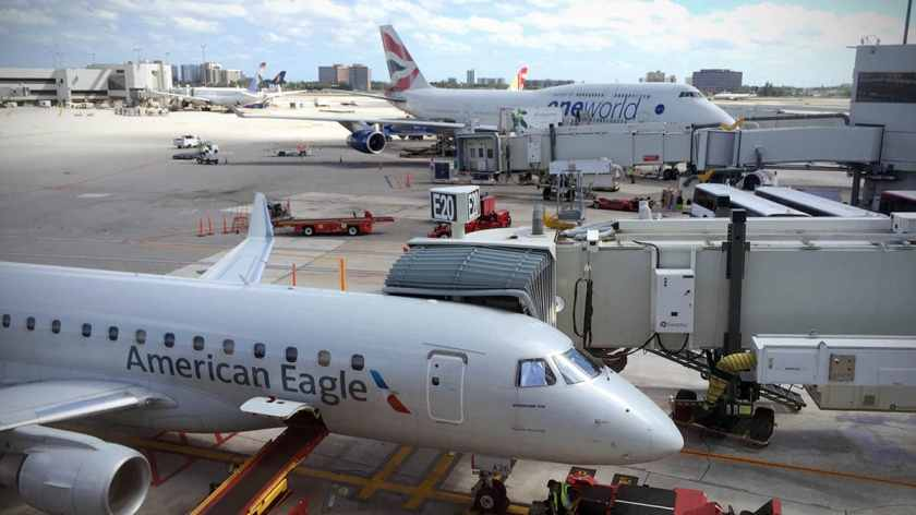 American Eagle & British Airways aircraft, Miami