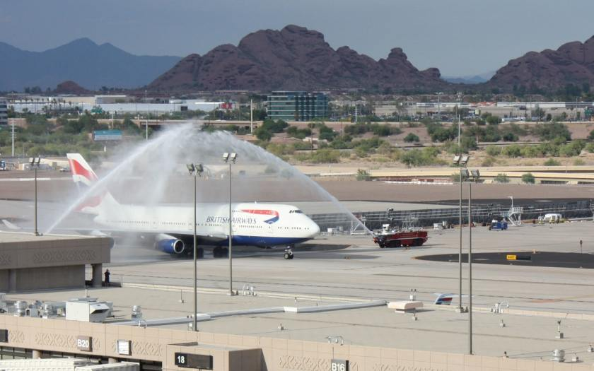 British Airways Boeing 747, Phoenix Sky Harbor International Airport