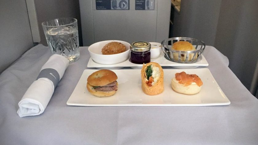 British Airways Club World Afternoon Tea London Heathrow - Miami