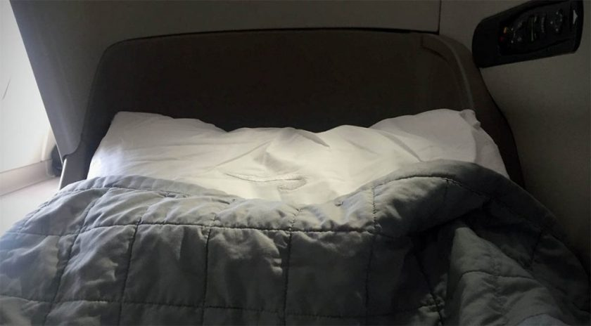British Airways Club World Bedding London Heathrow - Miami