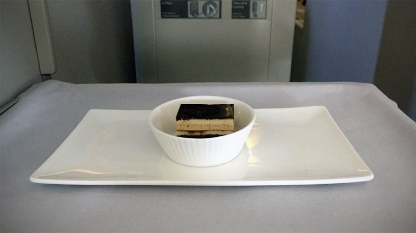 British Airways Club World Dessert London Heathrow - Miami
