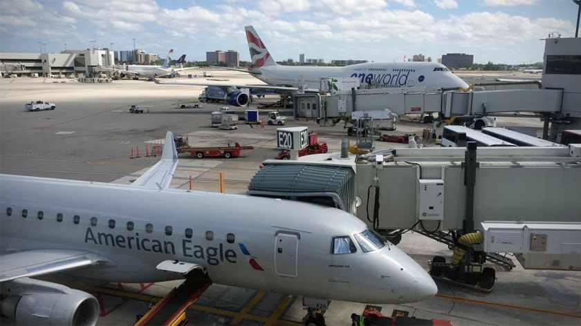American Eagle & British Airways Aircraft, Miami International Airport