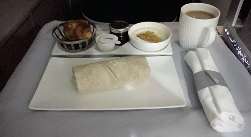 British Airways Club World Breakfast, Miami - London Heathrow