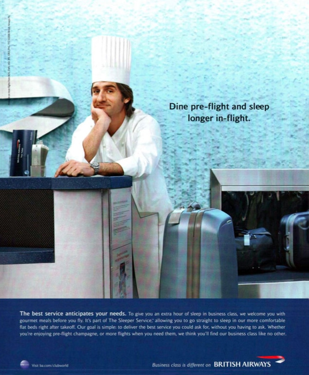 """Business Class Is Different On British Airways"" Print Advertising Campaign"