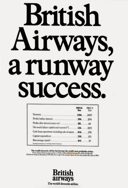 British Airways Press Advertisement, June 1984