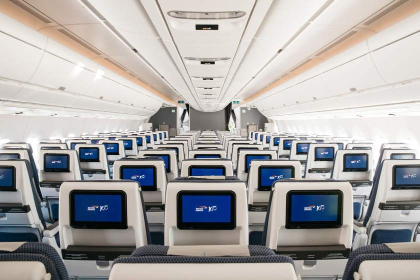British Airways Airbus A350-1000 World Traveller Cabin