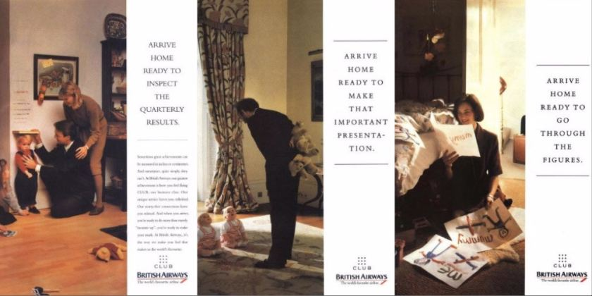 "British Airways ""Arrive Home"" Adverts, Early 1990s"
