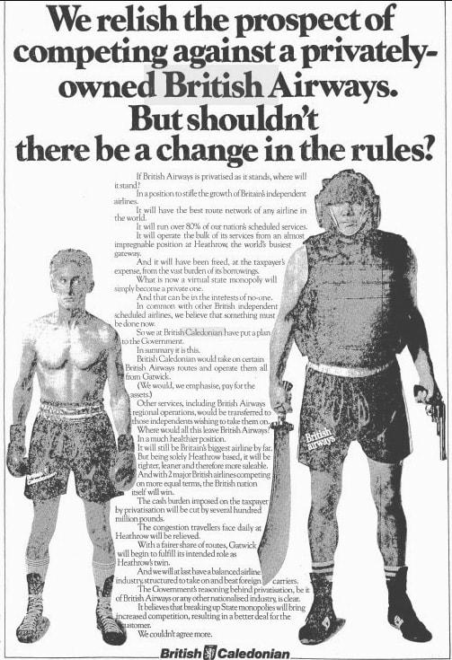 British Caledonian Advertisement November 1983
