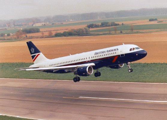 British Airways Airbus A320 Aircraft, Landor Livery
