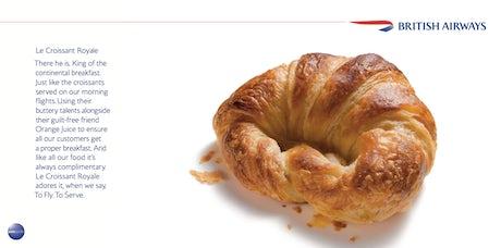 """""""Le Croissant Royale"""" British Airways"""