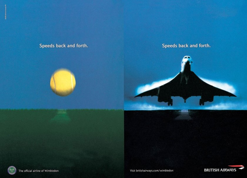 British Airways Concorde Wimbledon Advert