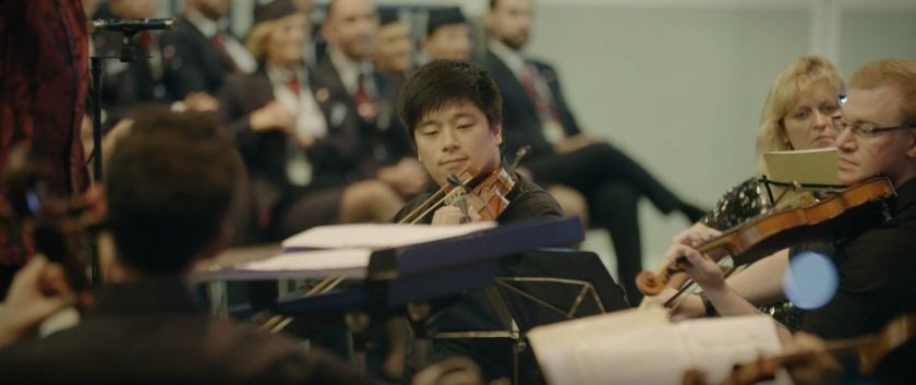 "British Airways Orchestra performing ""The Flower Duet"""