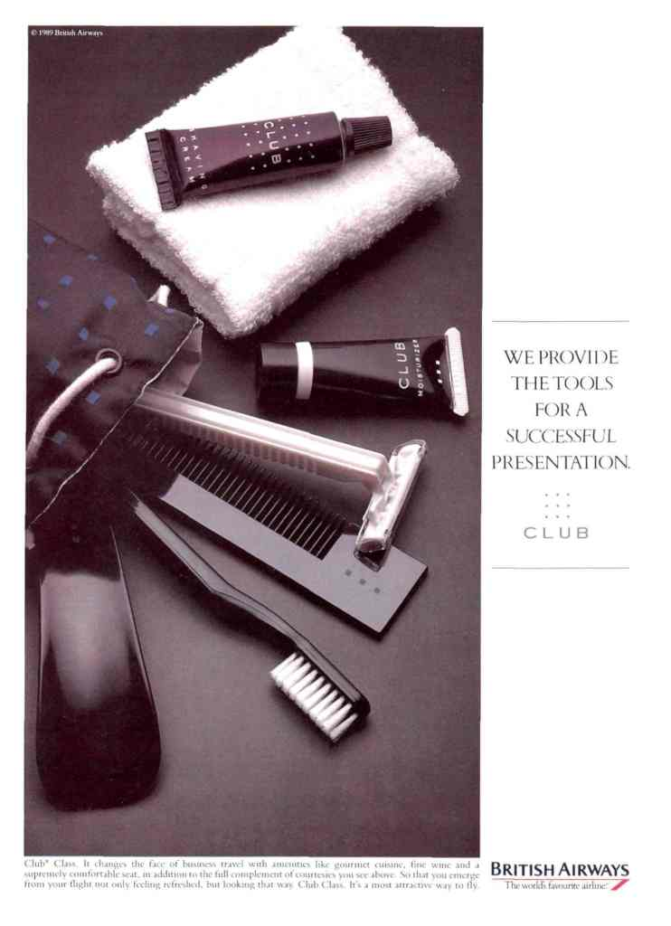 """We Provide The Tools For A Successful Presentation"" British Airways Press Advert 1989"