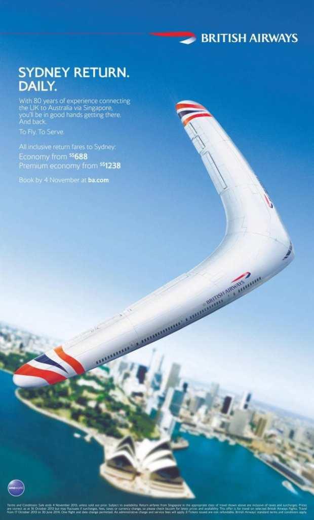 British Airways Sydney Advert 2013