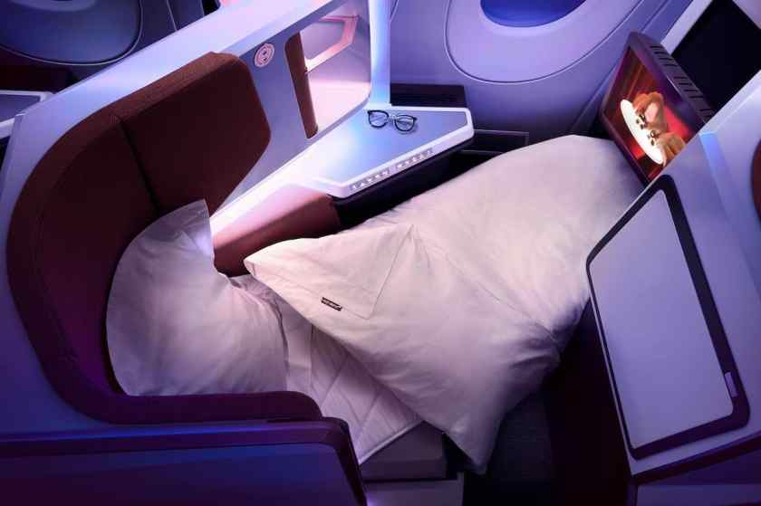 Virgin Atlantic Airbus A350-1000 Upper Class Cabin