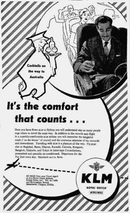 KLM Print Advert April 1953