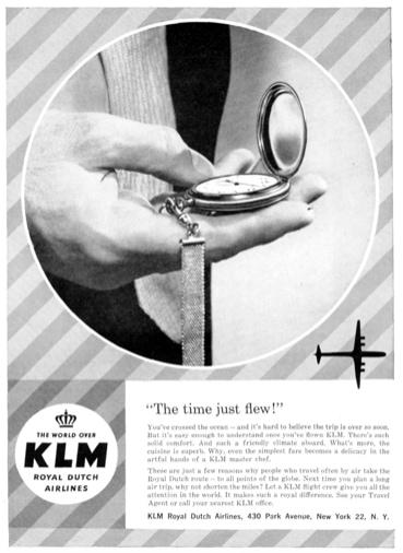 KLM Print Advert February 1959
