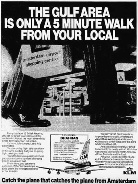 KLM Print Advert March 1979