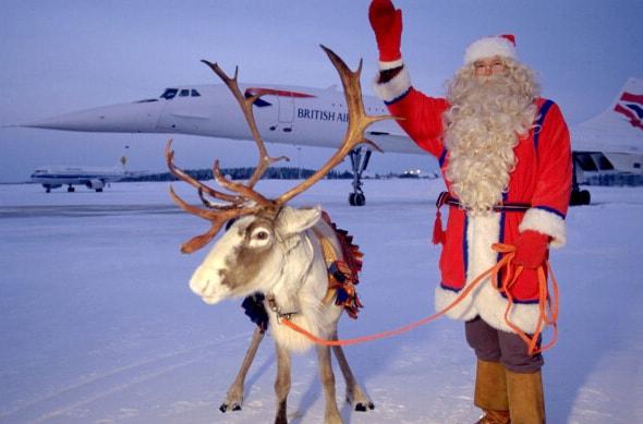 Concorde and Santa Claus, Rovaniemi, Finland, 1997