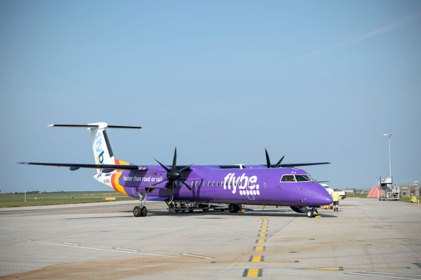 Flybe Bombardier Q400 Aircraft, Cornwall Airport Newquay