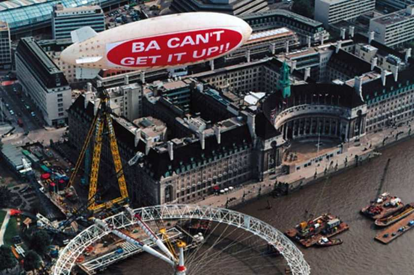 """BA Can't Get It Up"", London Eye, London, 1999"