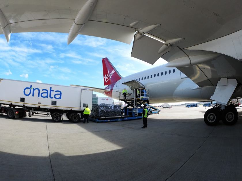 Virgin Atlantic Cargo Arriving At London Heathrow