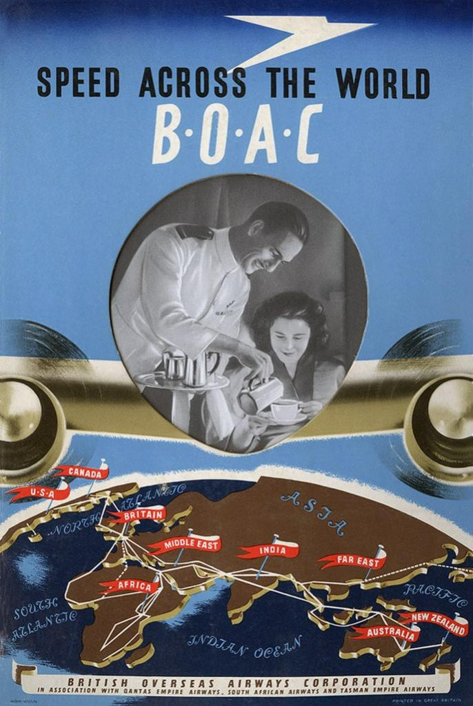 BOAC Speed Across The World Poster