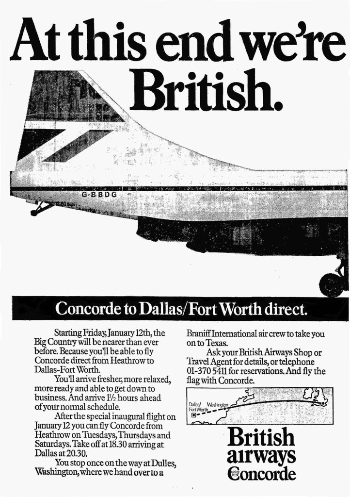 British Airways, Concorde, London Heathrow - Washington, January 1979