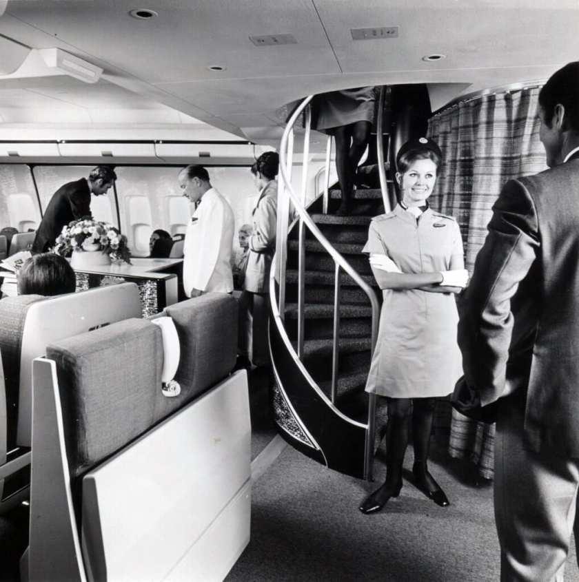 BOAC Boeing 747 Cabin Interior