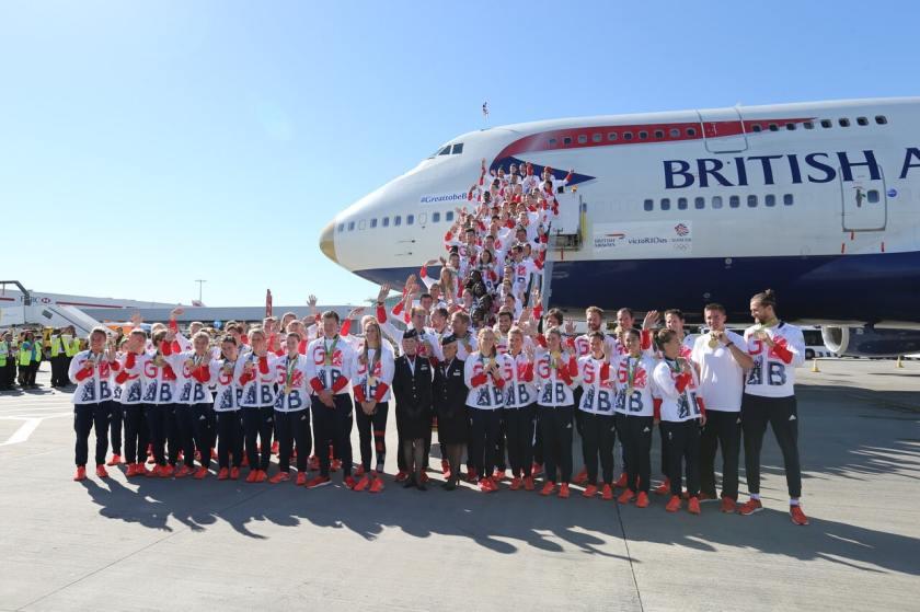 Team GB Arrival, London Heathrow, 23 August 2016