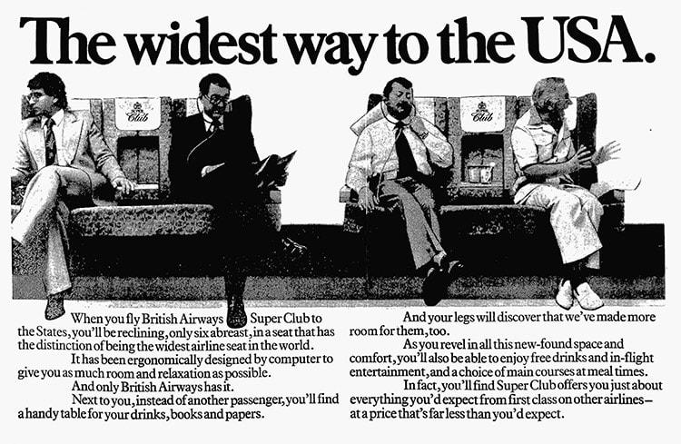 British Airways Super Club, November 1981