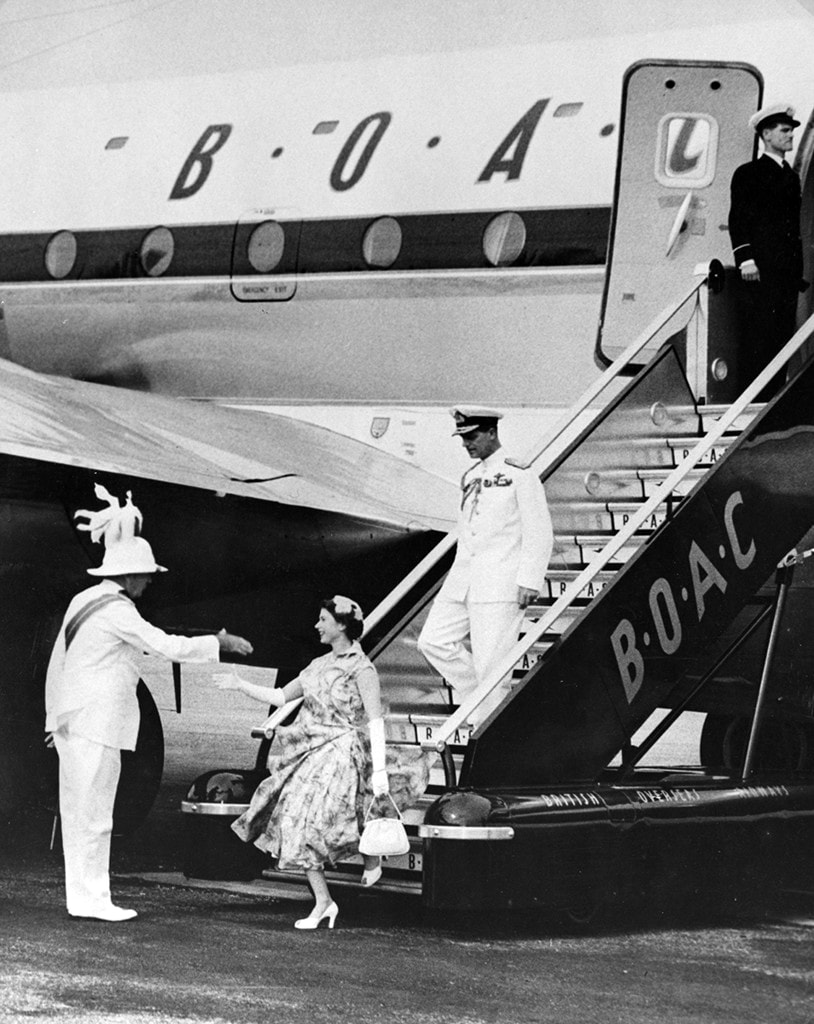 Her Majesty The Queen Elizabeth II, BOAC Stratocruiser, Bermuda