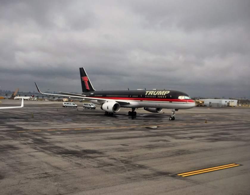 Trump Boeing 757-200 N757AF, LaGuardia Airport, New York, 2015