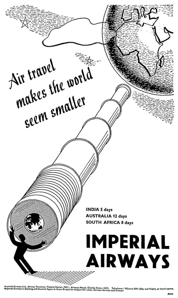 Advertisement for Imperial Airways, May 1936